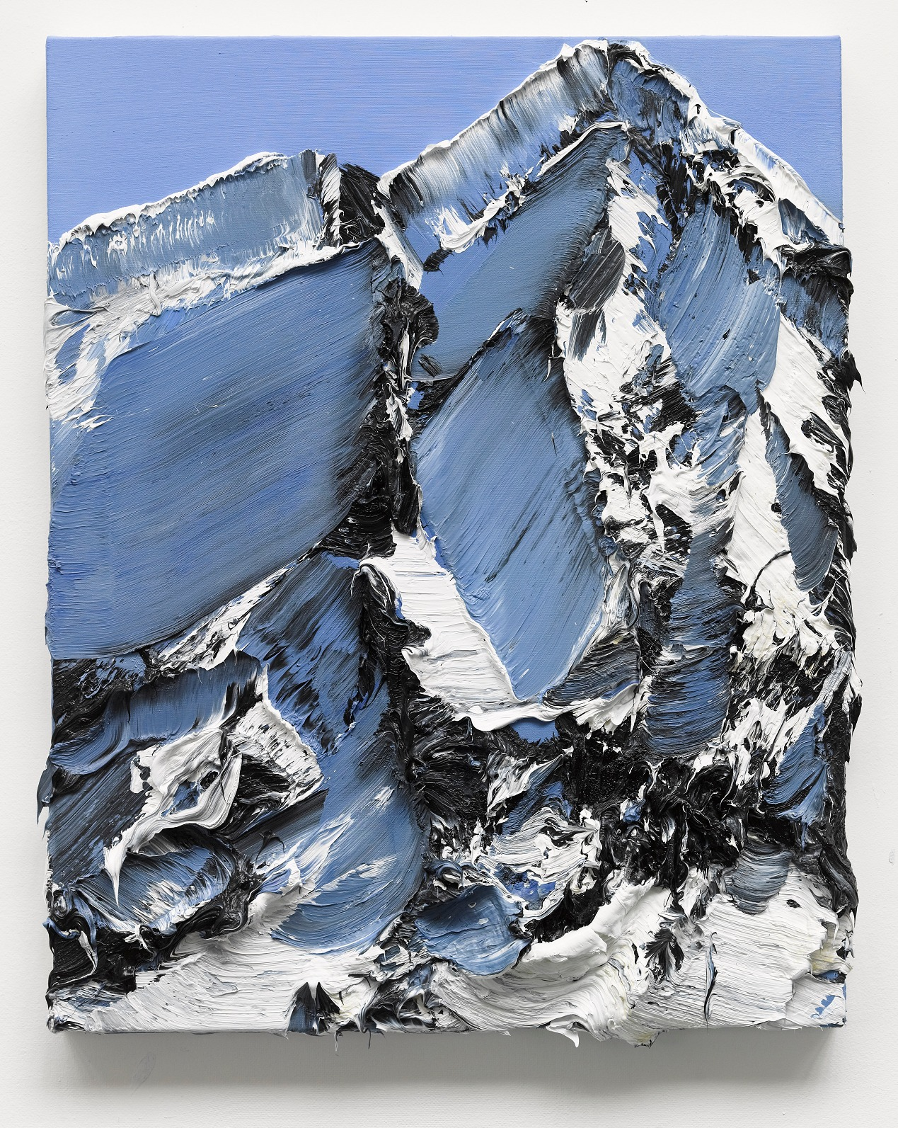 Conrad Jon Godly's Mountain Paintings Drip from the Canvas | Colossal