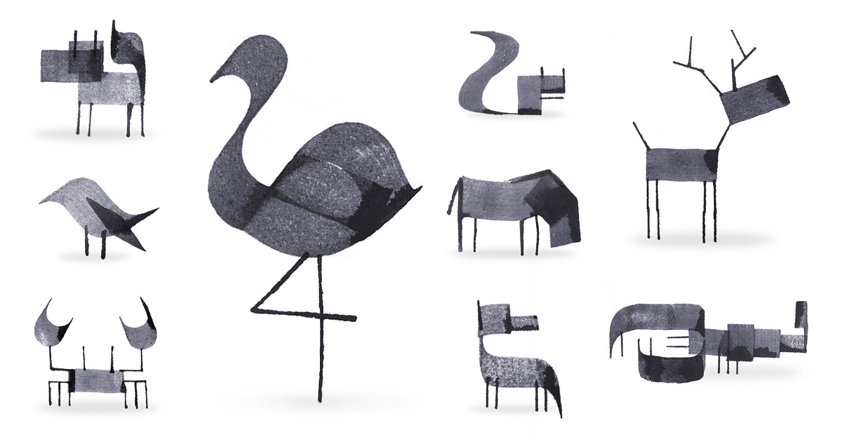 Calligraphy Animals By Andrew Fox Colossal