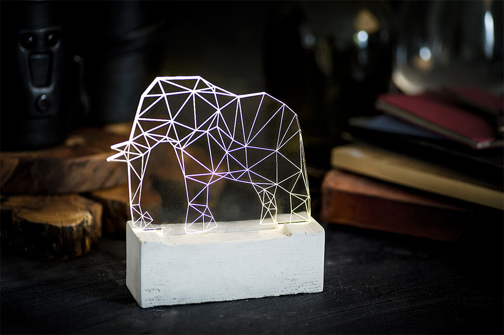 Geometric Animal Lights by Amit Sturlesi lighting animals