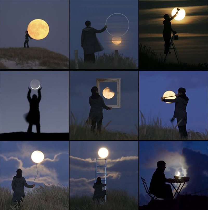 Photographer Laurent Lavender Plays with the Moon moon conceptual