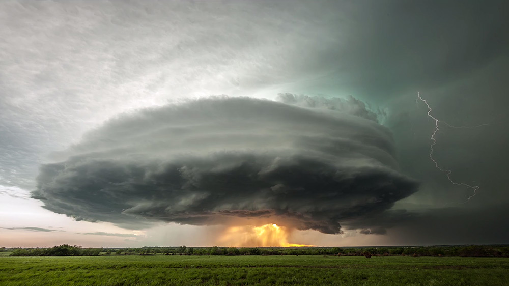 Incredible Supercell Thunderstorm Time lapse Over Kansas by Stephen Locke weather Kansas clouds