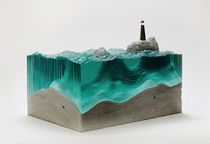 Super Sheets Of Glass Cut Into Layered Ocean Waves By Ben Young Interior Design Ideas Inesswwsoteloinfo