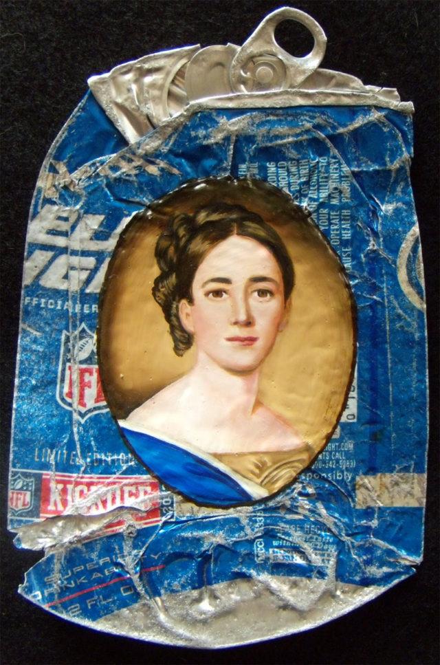 Historical Fine Oil Portraits on Crumpled Trash by Kim Alsbrooks