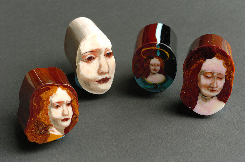 Sliced Glass Paintings and Portraits by Loren Stump glass