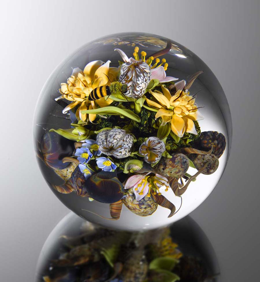 Beauty Beyond Nature: Stunning Artistic Glass Paperweights by Paul J. Stankard sculpture glass