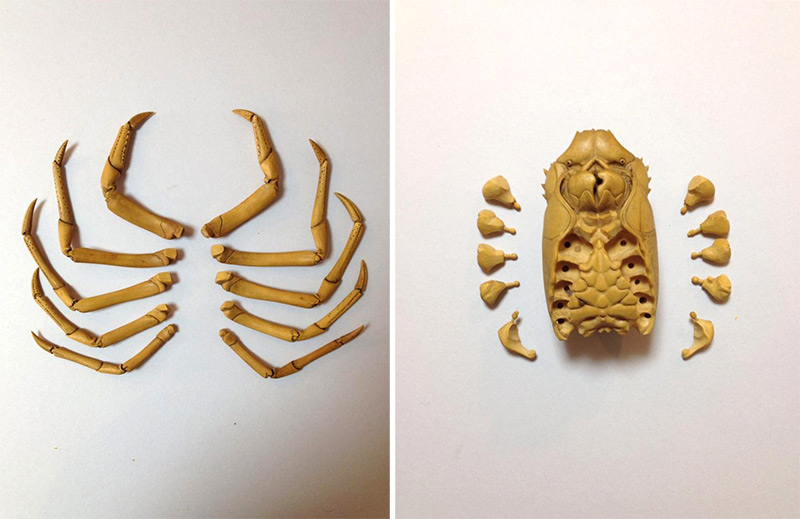 Artist Ryousuke Ohtake Carves Incredibly Realistic Lobster from Boxwood wood sculpture lobsters carving