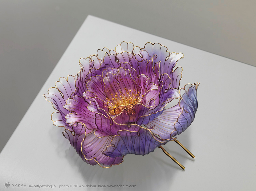 Exquisite Japanese Floral Hair Ornaments Handcrafted From
