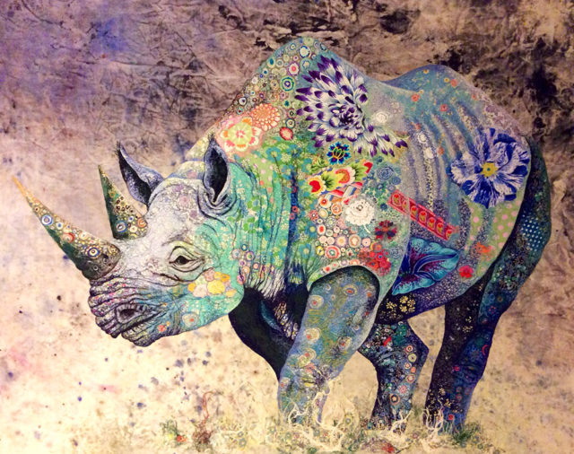 Elaborate Textile 'Collages' of African Wildlife by Sophie Standing
