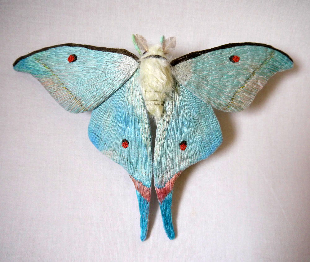 Textile Moth and Butterfly Sculptures by Yumi Okita textiles sculpture moths insects butterflies