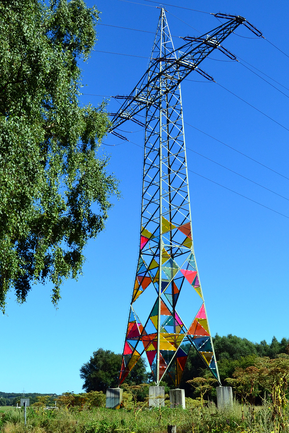 Art Students Transform an Electrical Tower into a Stained Glass Lighthouse | Colossal