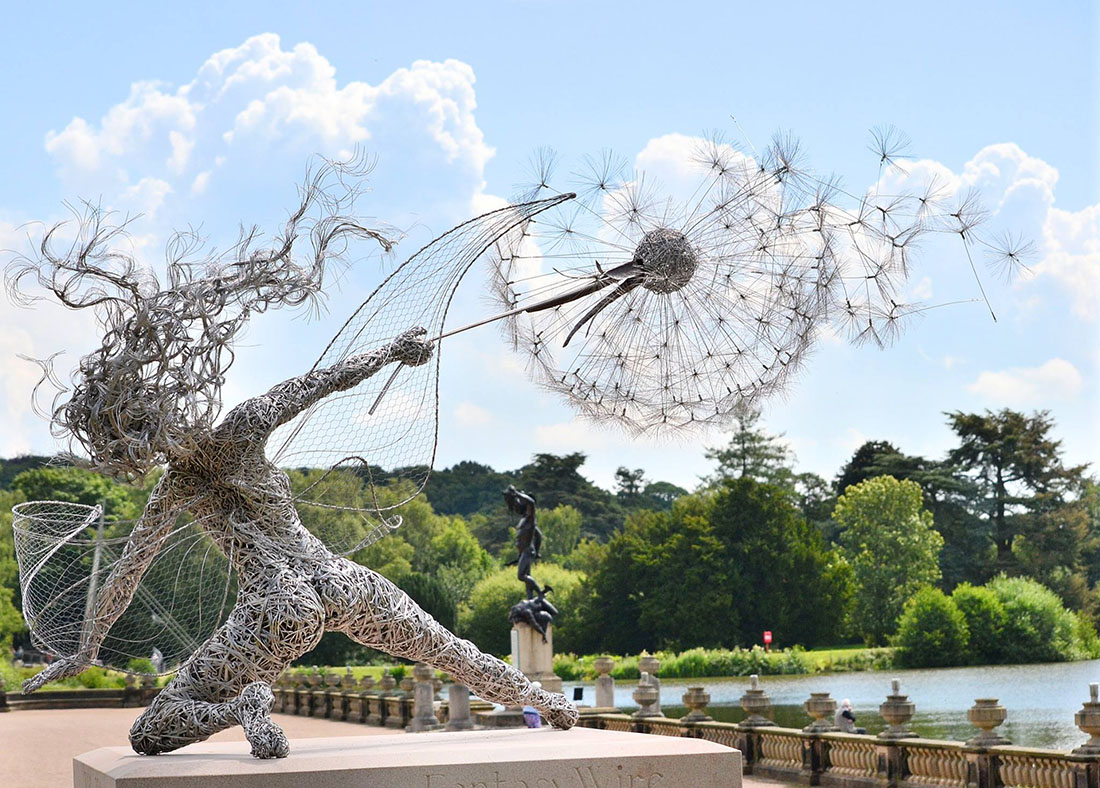 Fairy Wire Sculptures For Sale Center Genuine Mercedes Benz 1644402513 Electrical Wiring Harness Dramatic Stainless Steel Fairies By Robin Wight Colossal Rh Thisiscolossal Com Dandelion Sculpture