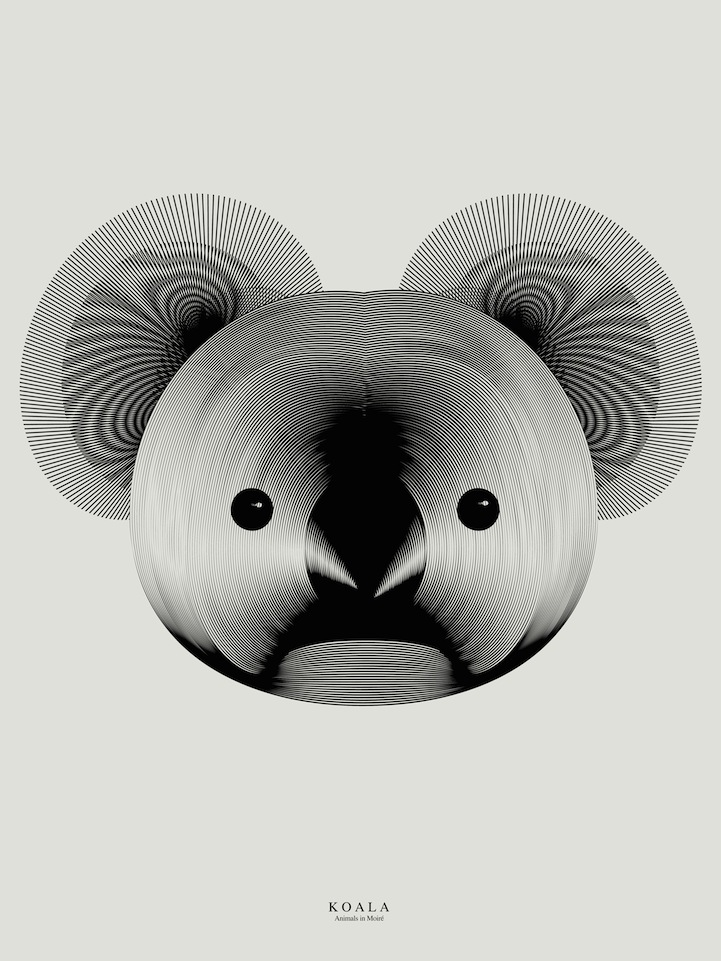 Animals Formed From Moiré Patterns by Designer Andrea Minini | Colossal