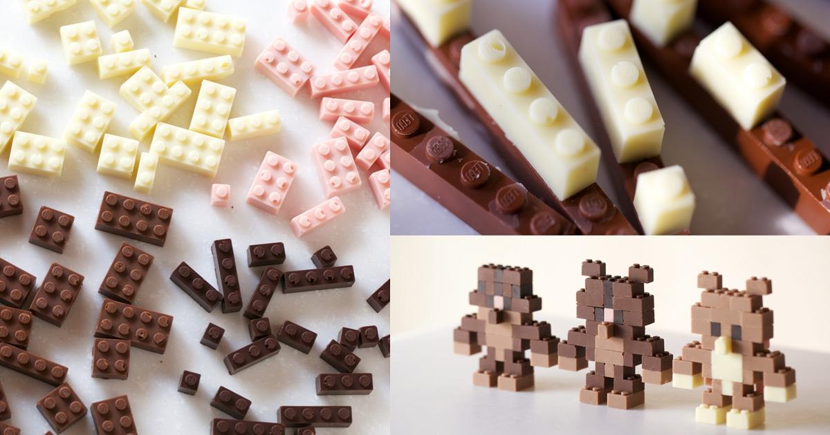 Edible Chocolate Legos By Akihiro Mizuuchi Colossal