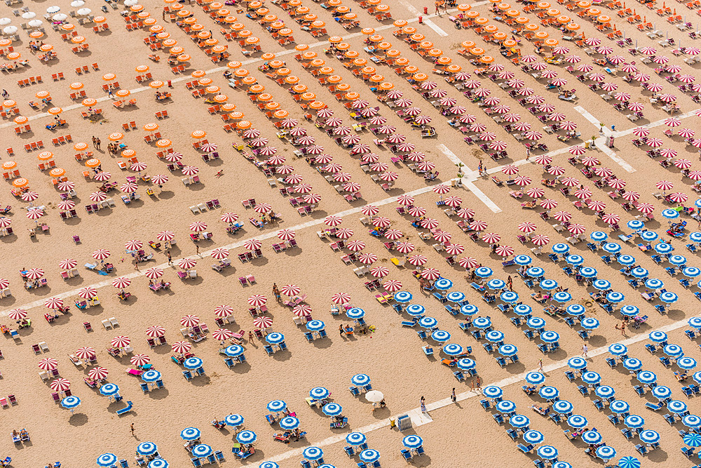 Aerial Adria: An Italian Beach Resort Photographed from Above by Bernhard Lang multiples Italy beach aerial