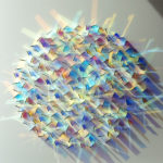 Geometric Dichroic Glass Installations by Chris Wood
