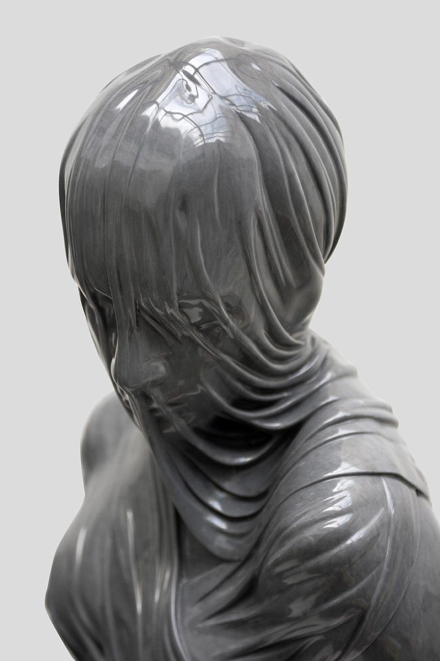 These Veiled Figures of Bronze and Marble by Kevin Francis Gray Seem to Drip with Fabric | Colossal