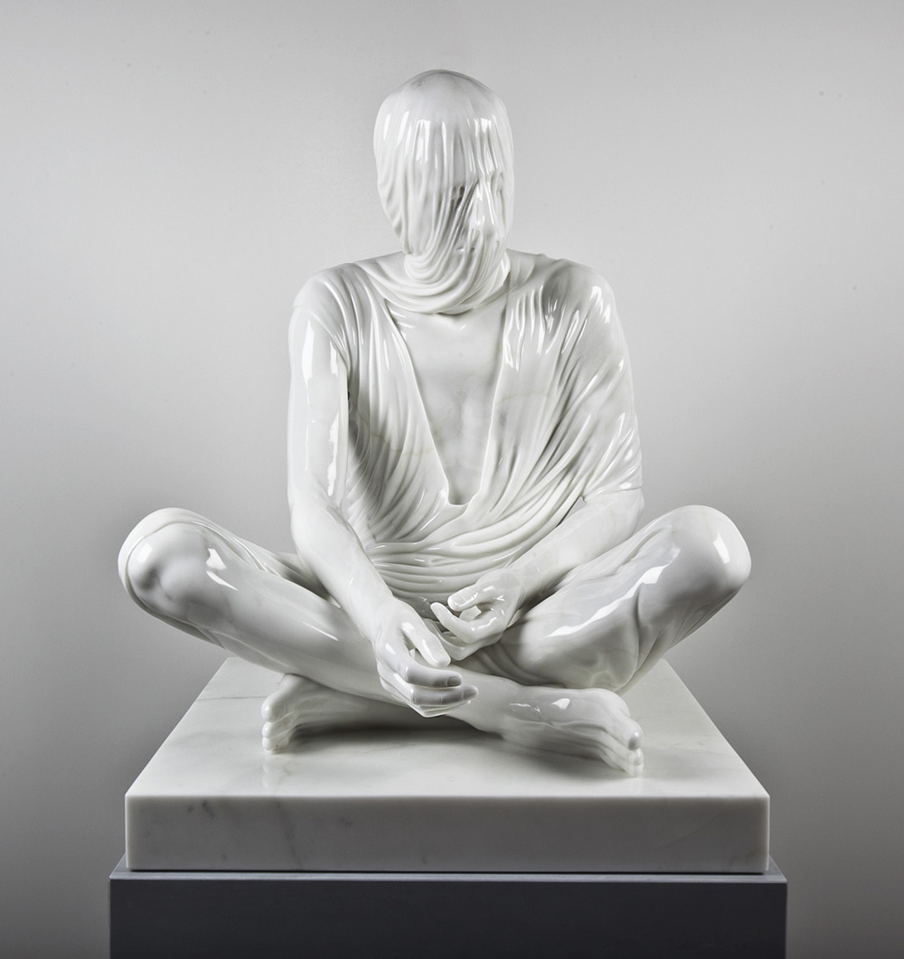 These Veiled Figures of Bronze and Marble by Kevin Francis Gray Seem to Drip with Fabric sculpture marble bronze