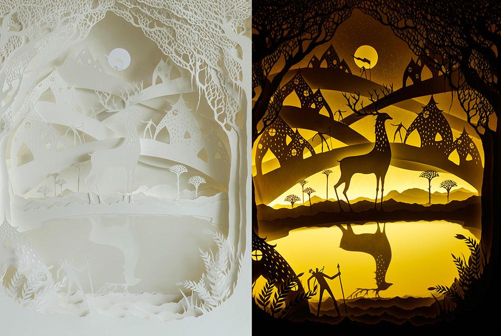 New Backlit Paper Sculptures by Hari & Deepti sculpture paper light