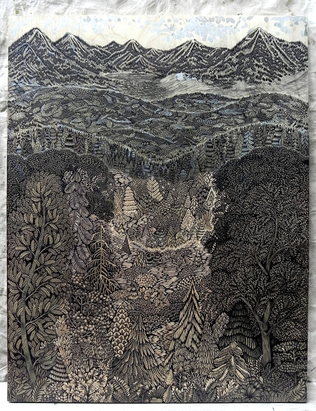 Overlook: A New Woodcut Print from Tugboat Printshop | Colossal
