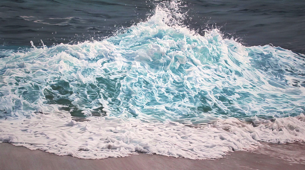 Perspective: Artist Zaria Forman Shares the Inspiration behind Her Large Scale Pastel Waves and Icebergs waves water pastel ice drawing documentary climate