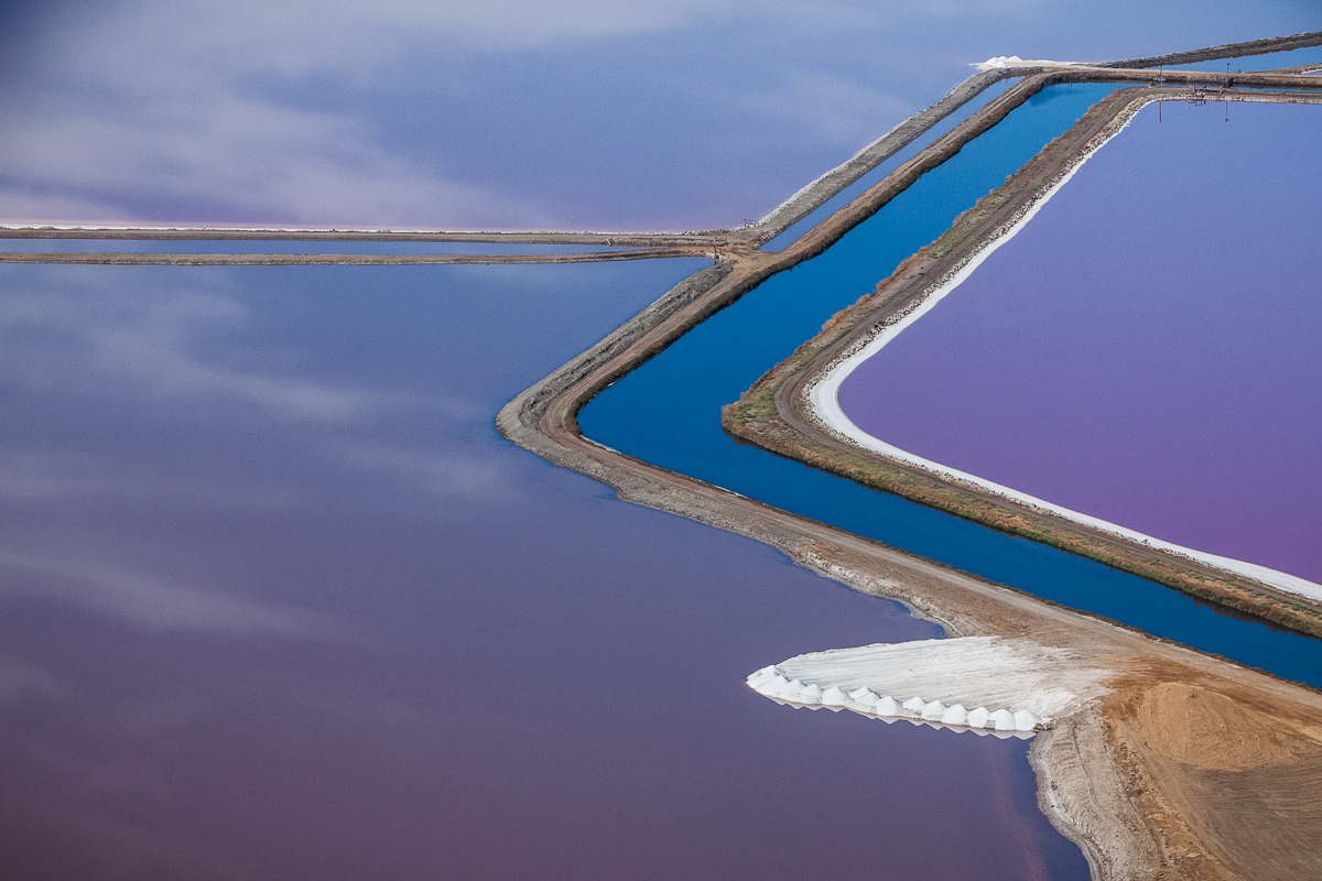 Purple Views of the San Francisco Bay Salt Ponds by Julieanne Kost | Colossal
