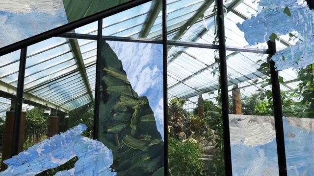 Regular Division: A Hypnotic Video Collage Merging Classical Oil Painting and Greenhouses