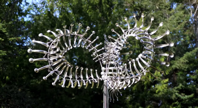 Dizzying New Wind-Powered Kinetic Sculptures by Anthony Howe