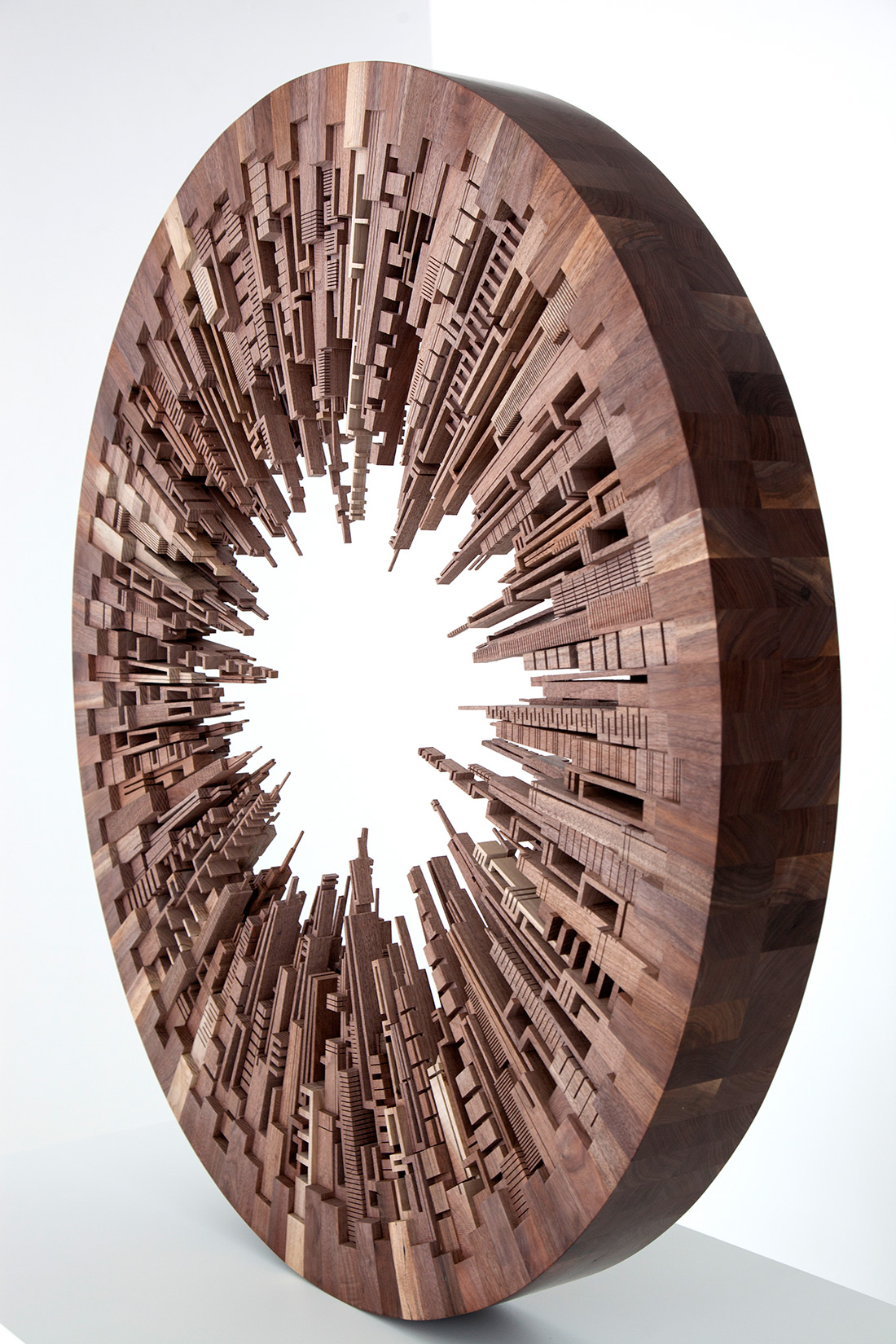 New Wooden Cityscapes Sculpted with a Bandsaw by James McNabb | Colossal