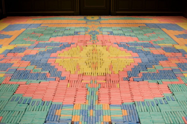 Intricate Temporary Carpets Made from Everyday Objects by 'We Make Carpets'
