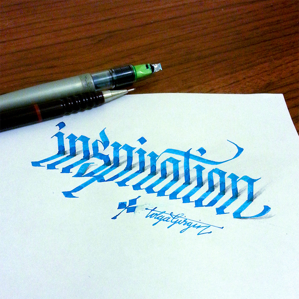 3d calligraphy experiments by tolga girgin colossal Easy calligraphy pen
