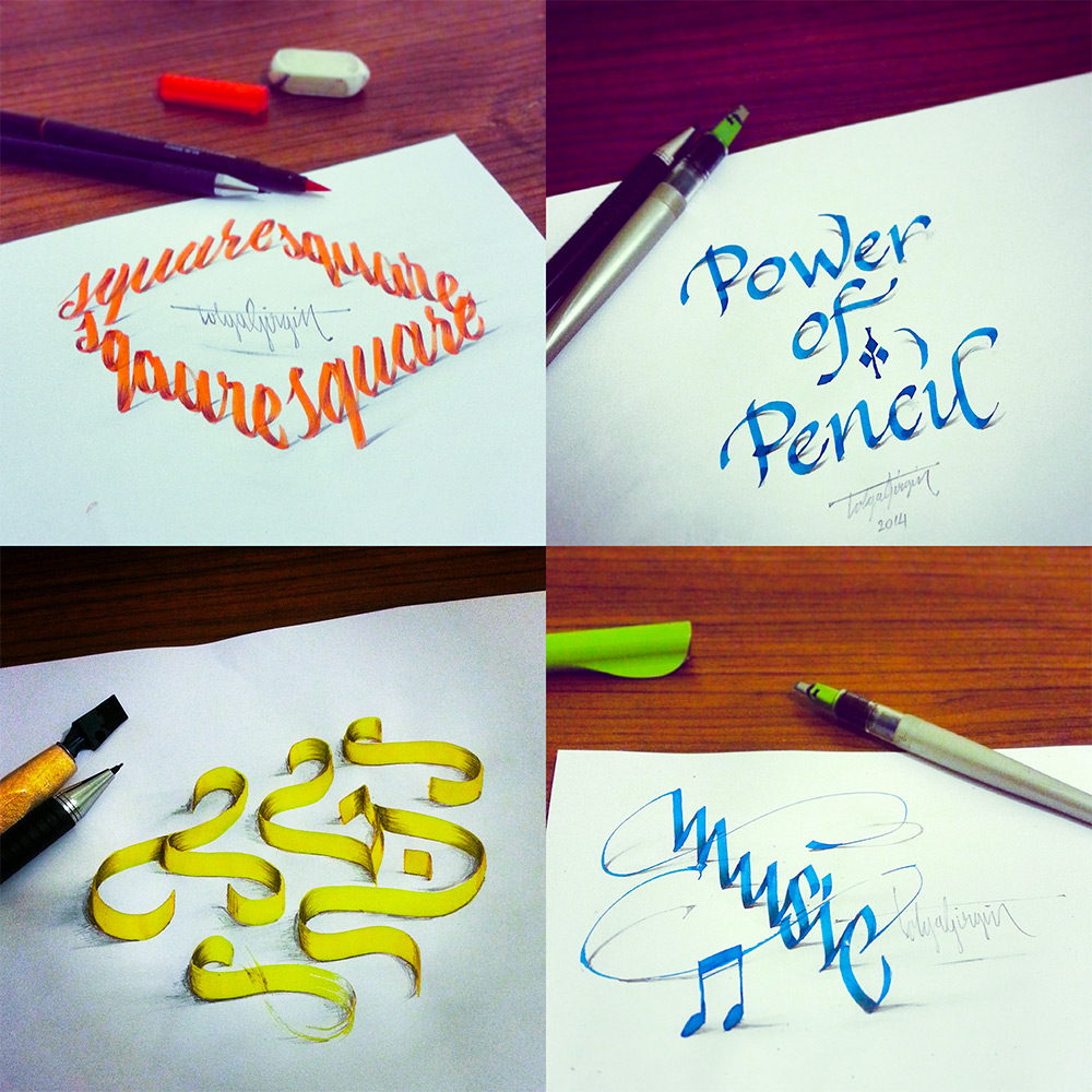 3D Calligraphy Experiments by Tolga Girgin | Colossal
