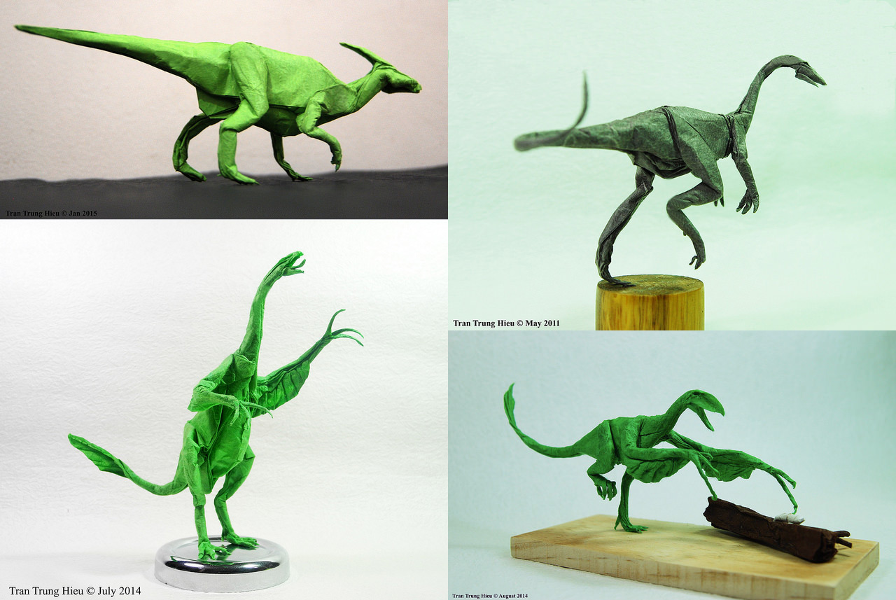 Tremendous Masterful Dinosaur And Creature Origami By Adam Tran Colossal Wiring Digital Resources Remcakbiperorg