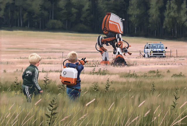 Simon Stålenhag's Retro Sci-Fi Images of a Dystopian Swedish Countryside Published In Two New Books