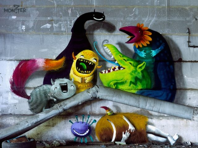 Quirky Monsters Playfully Occupy Abandoned Berlin Warehouses