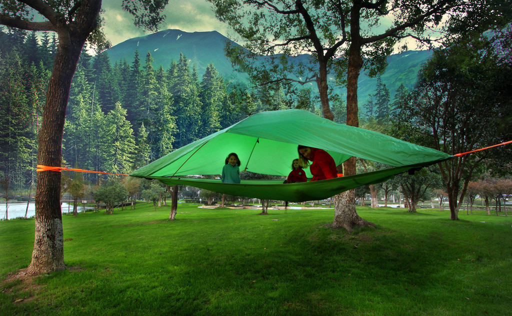 tent-9 - Camp In The Air: New Suspended Treehouse Tents And Hammocks