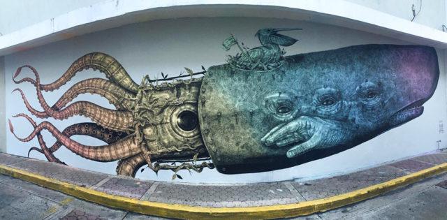 Unusual Hybrid Animal and Wildlife Murals Painted by Alexis Diaz