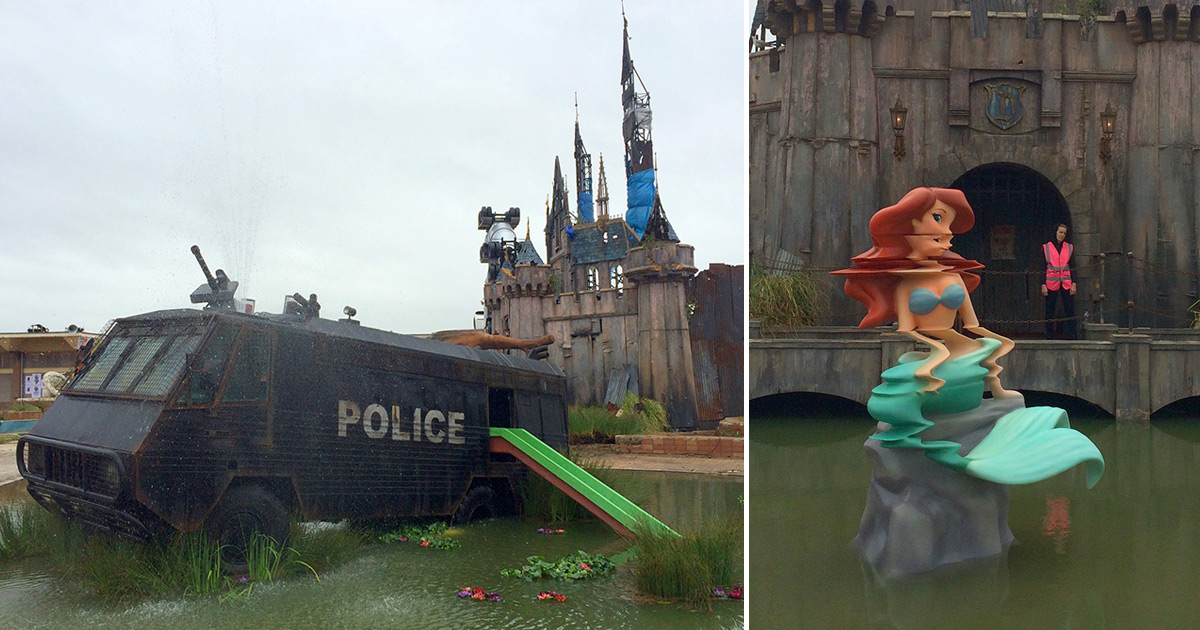 welcome to dismaland a first look at banksy�s new art