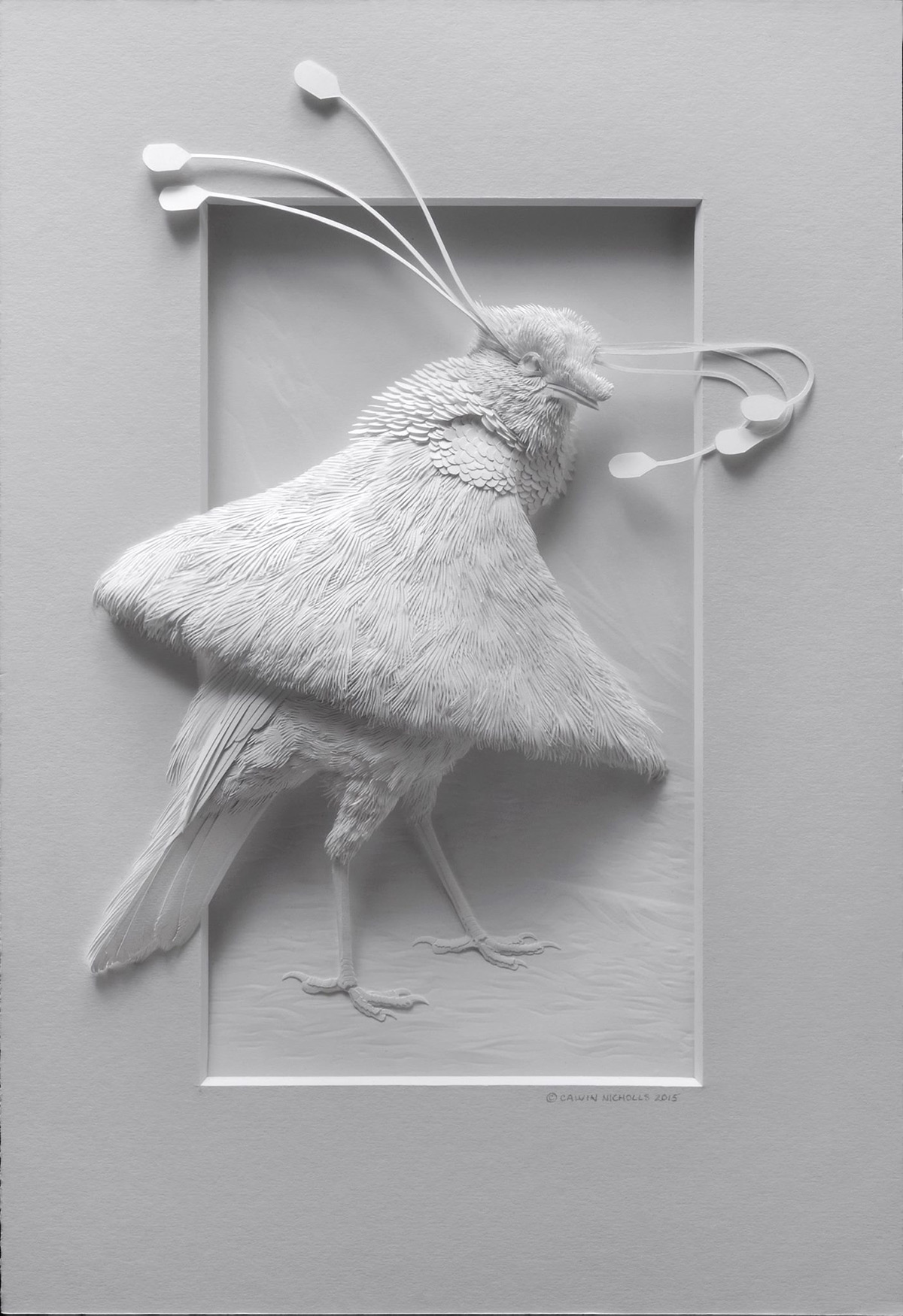 Delicate Layered Paper Sculptures Of Birds And Other