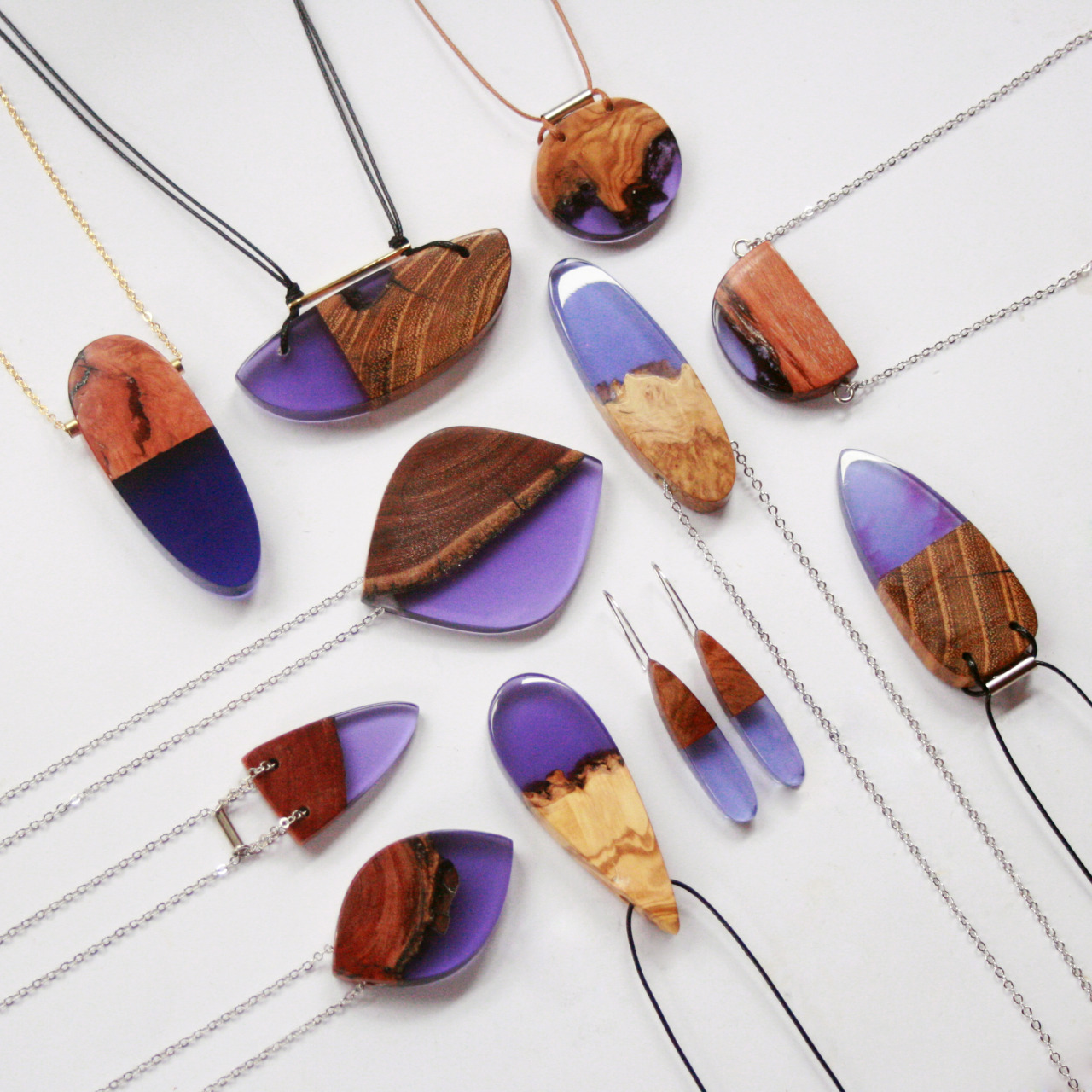 Jagged wood fragments find new purpose when fused with for How to make a wooden pendant