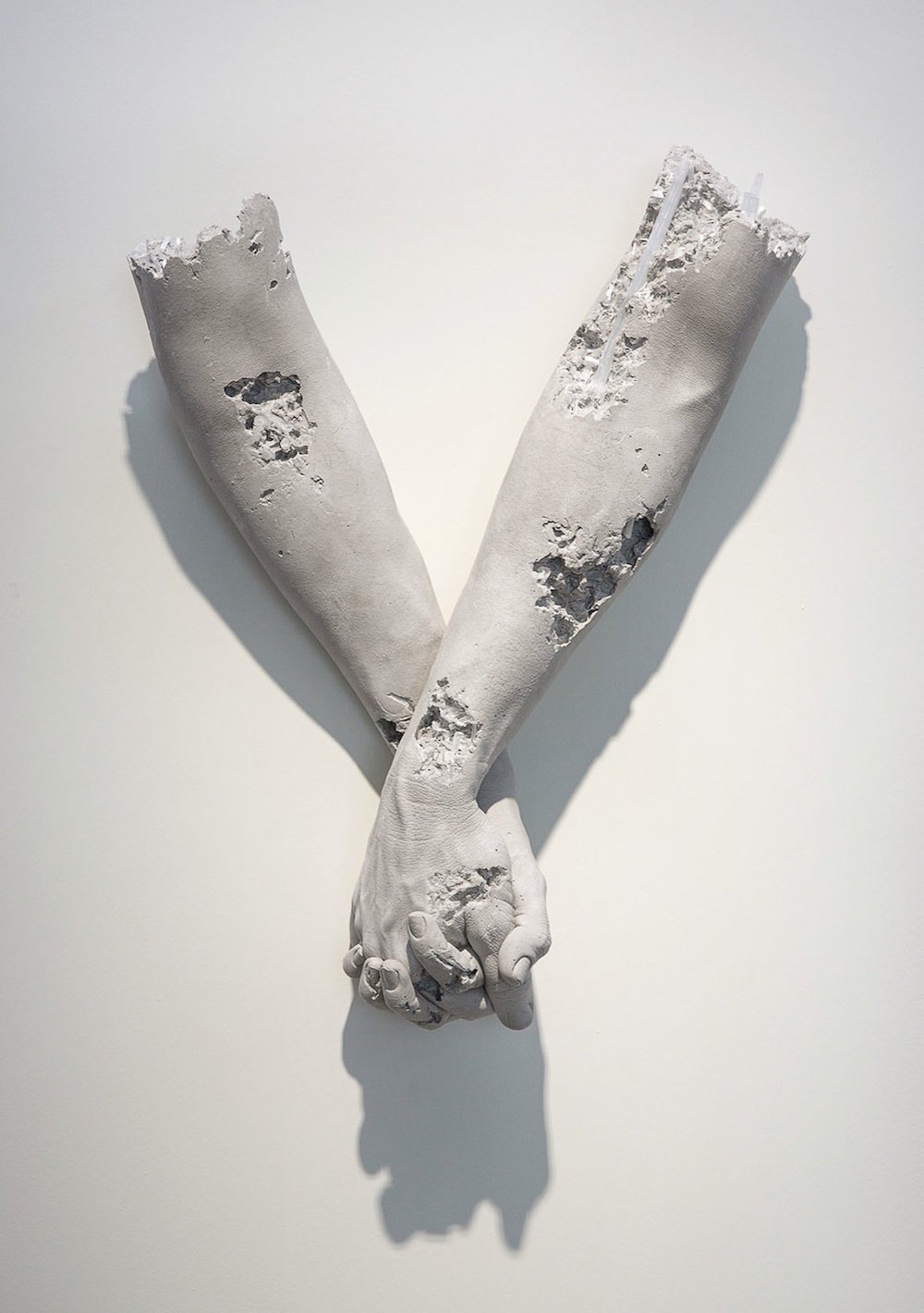 New Hydrostone Sculptures by Daniel Arsham Isolate Human Gestures | Colossal