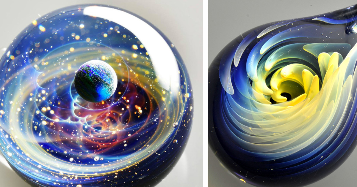 Space Glass Extraordinary Solar Systems And Flowers