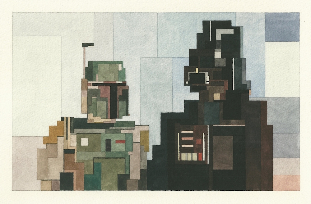 Boba Fett and Darth Vader, image provided by White Walls San Francisco