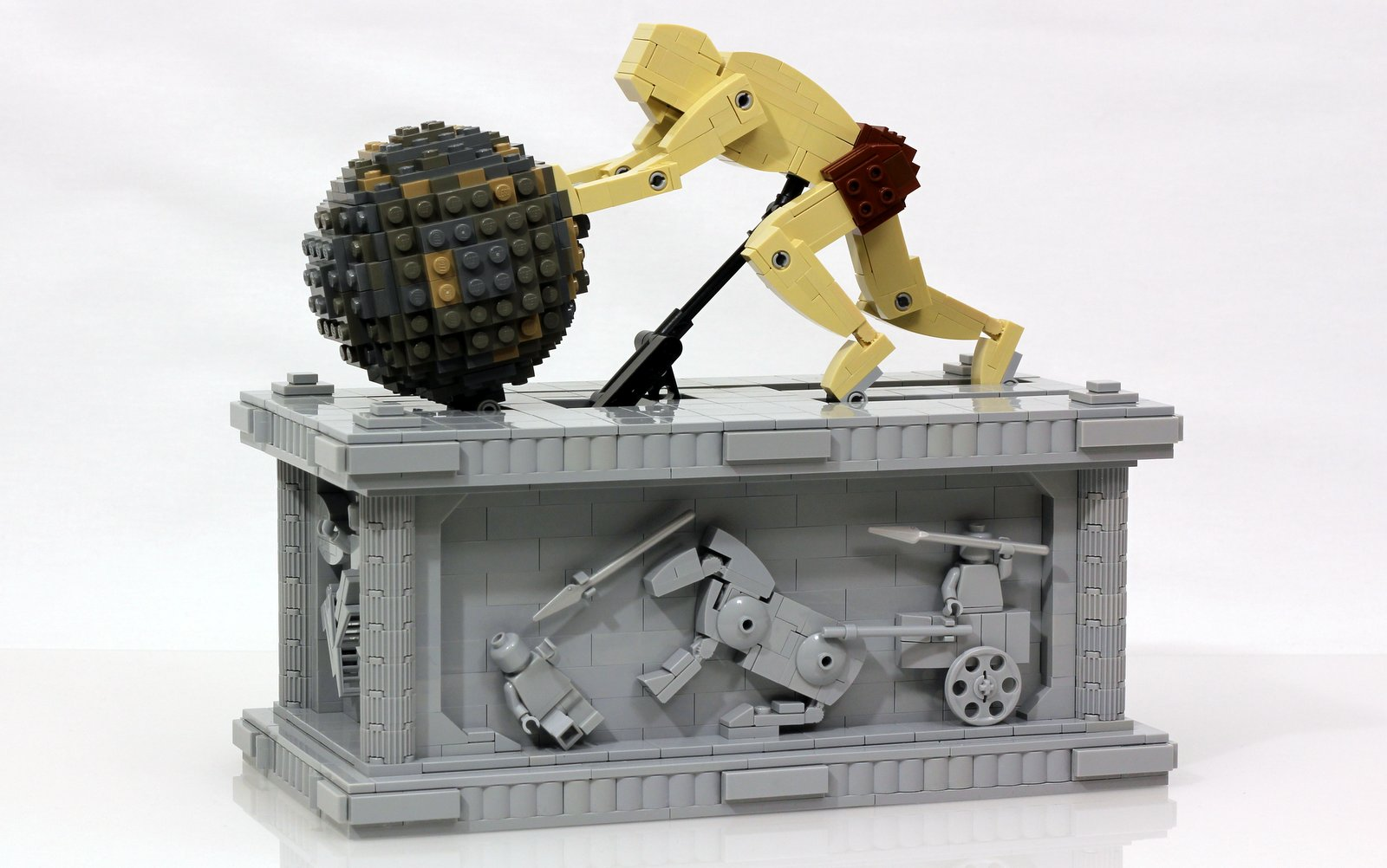 A Perpetual Sisyphus Kinetic Sculpture Built With Lego