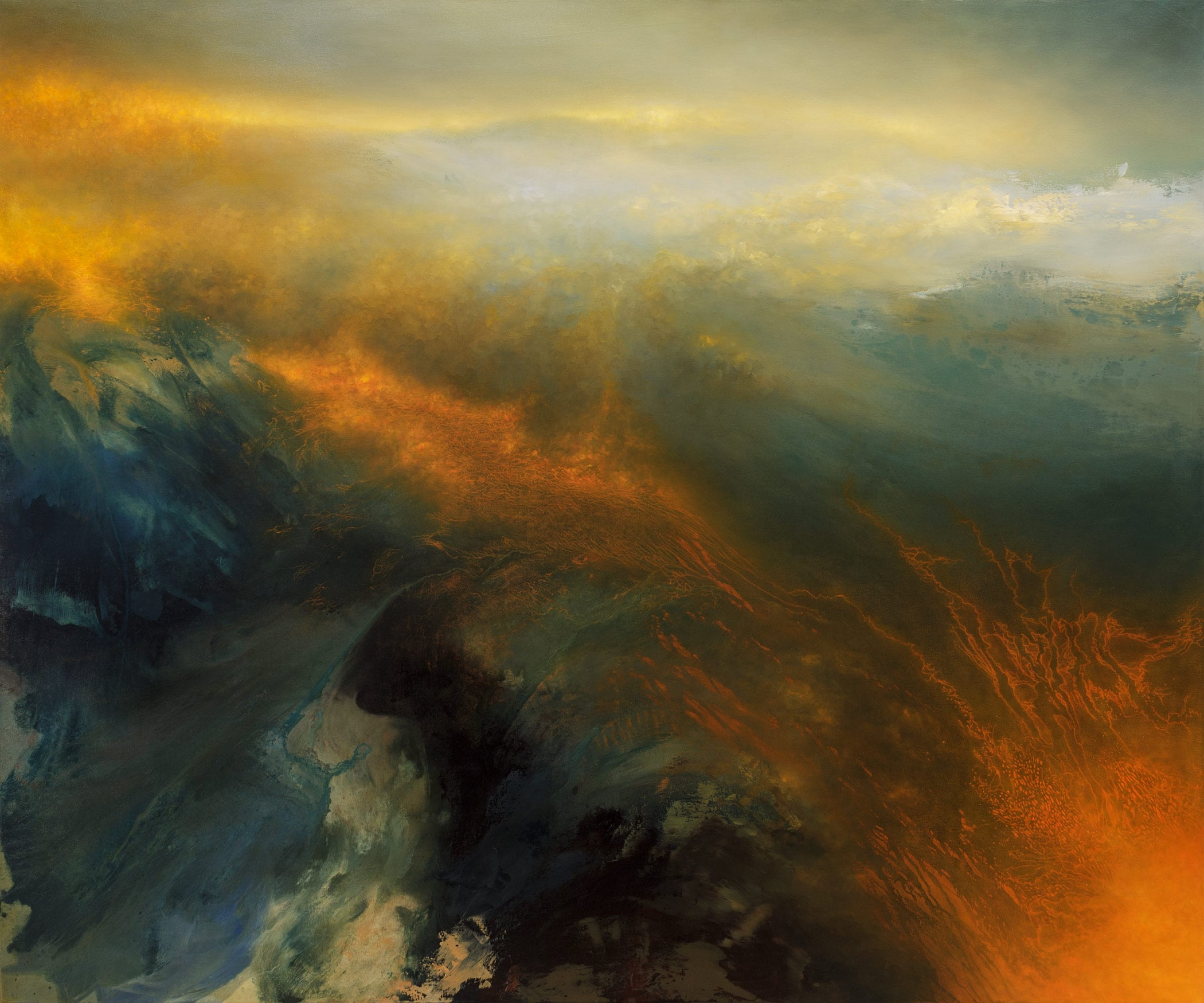 Artist samantha keely smith explores powerful collisions of dark and light in her abstract - Bron schilderijen ...