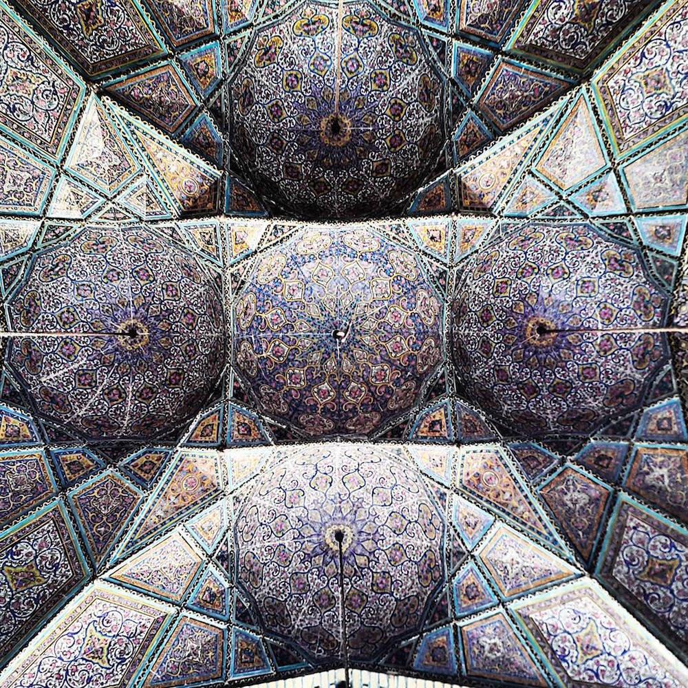 Celling of Nasir-Al-Molk's mosque in Shiraz,Iran
