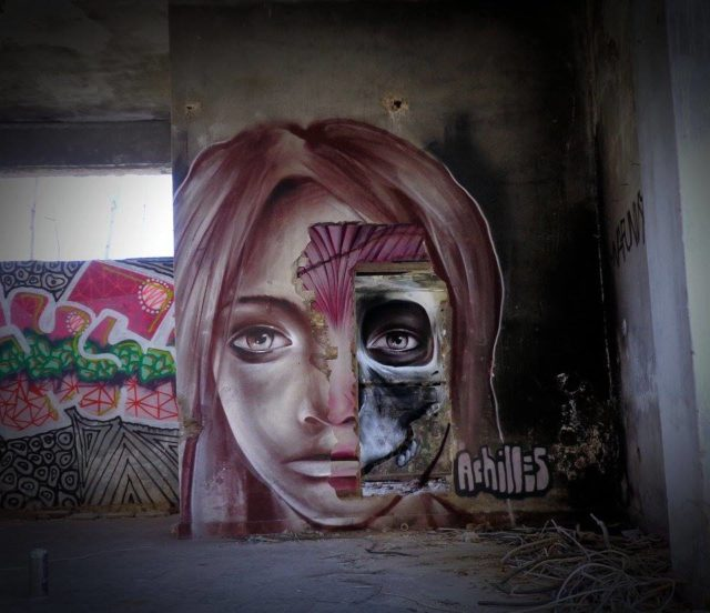 A Multi-Layered Anatomical Mural by 'Achilles'