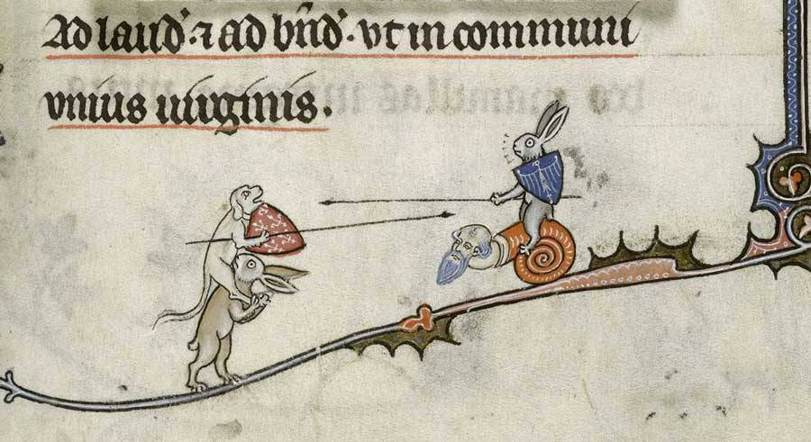 Violent Rabbit Illustrations Found in the Margins of Medieval Manuscripts | Colossal