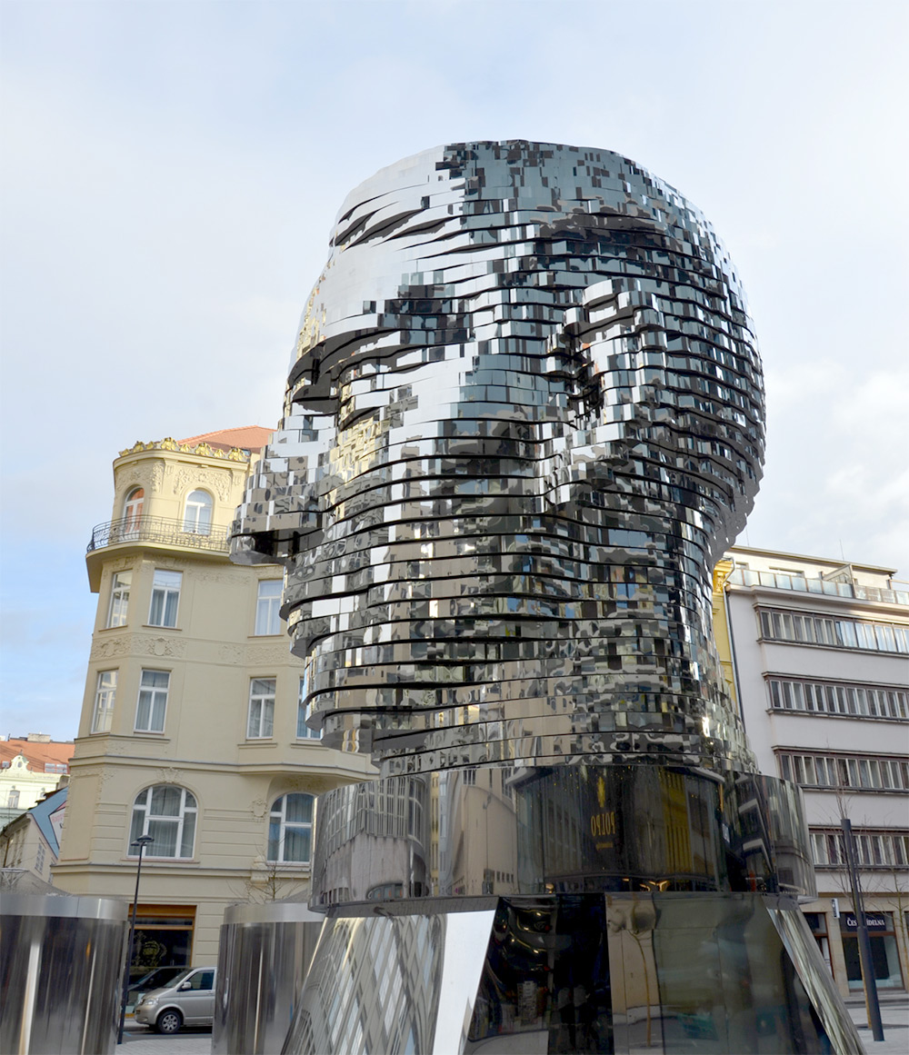 A Rotating 42 Layer Sculpture Of Franz Kafka S Head By