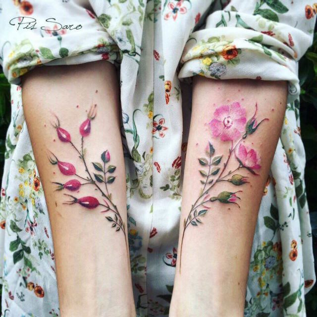 Botanical Tattoos Inspired by Garden Walks by Pis Saro
