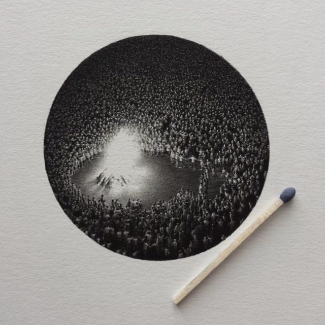 Miniature Graphite Drawings by Mateo Pizarro